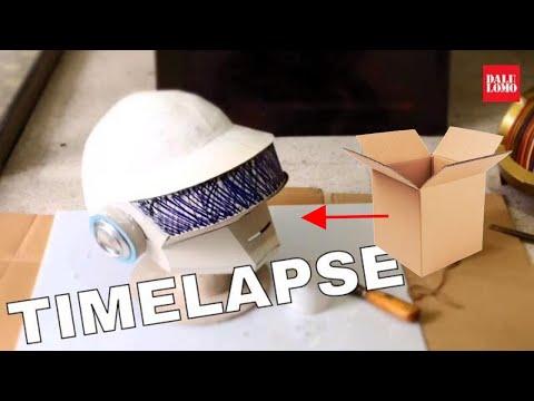 Timelapse - Daft Punk Thomas Helmet (2014 DIY Cosplay) - 동영상