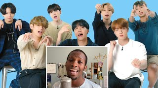 Download lagu BTS Watches Fan Covers On YouTube | Glamour