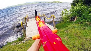 Nerf War: First Person Shooter(Nerf War: First Person Shooter 1, brought to you by PDK Films! In this Nerf War, Paul attacks a lakeside cabin full of bad guys armed with Nerf guns. Subscribe ..., 2014-07-04T16:00:02.000Z)