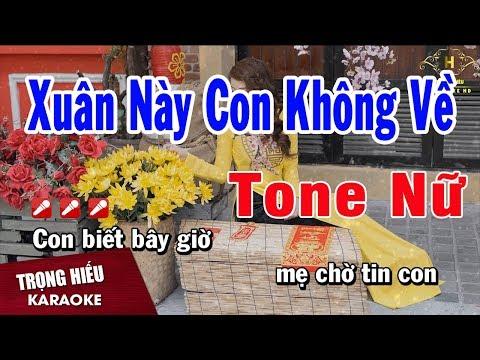 Karaoke Xuân Này Con Không Về - Kim Thu