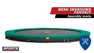BERG InGround Favorit trampoline | assembly movie