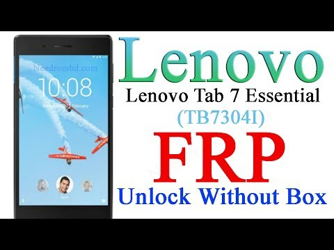 Lenovo Tab 7 Essential TB-7304I  FRP Without Any Box - Needrombd