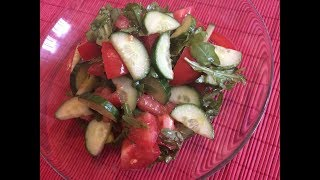 Салат за 3 минуты \ Быстрый, легкий, вкусный