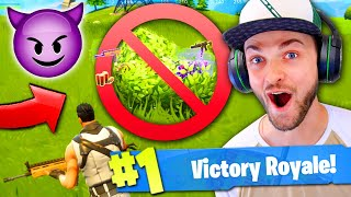 Destroying BUSH CAMPERS in Fortnite: Battle Royale!
