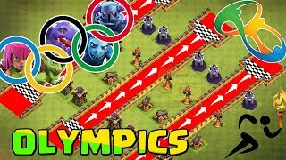 Clash Of Clans Olympics | All Troops Race | Who's the Fastest ? - Clash Of Clans