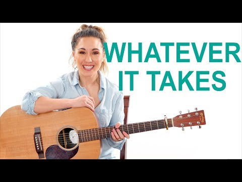 Whatever It Takes - Imagine Dragons Easy Guitar Tutorial with Play Along