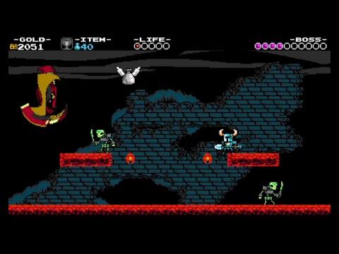 Shovel Knight beating the Specter Knight