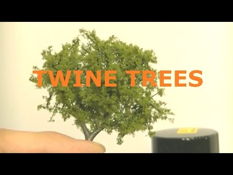 MODEL RAILROAD IDEA / TREES USING TWINE for branches MODEL TRAIN