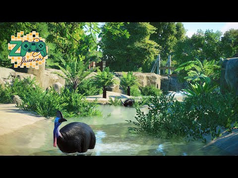 Cassowary Habitat Veluwe Zoo | Planet Zoo Speed Build | Veluwe Zoo EP32 |