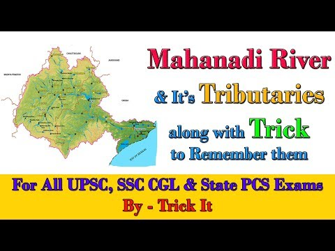 Mahanadi River and It's Tributaries along with Trick to Remember them