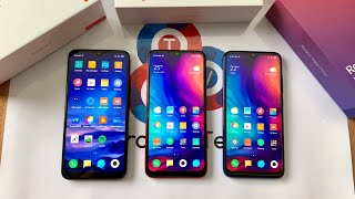 Redmi 7 vs Note 7 vs Note 7 Pro - Ultimate Redmi Battle!