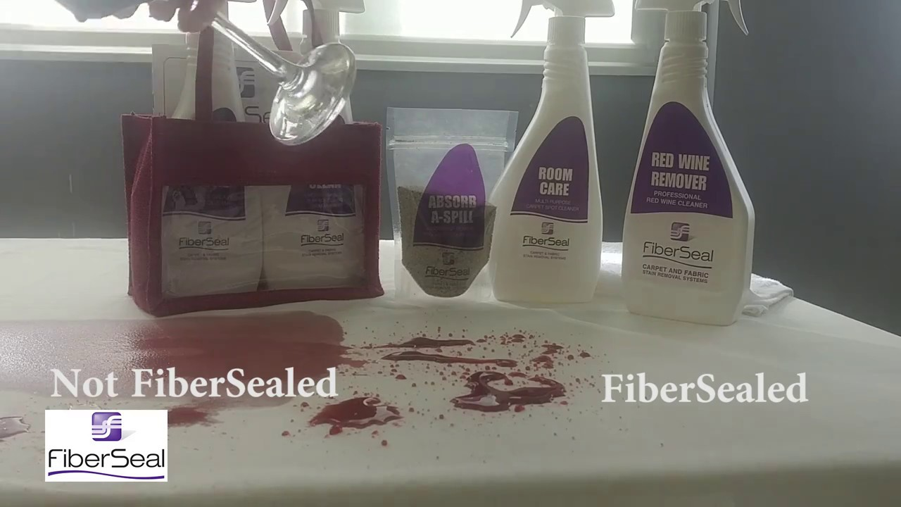 stain protection red wine spill