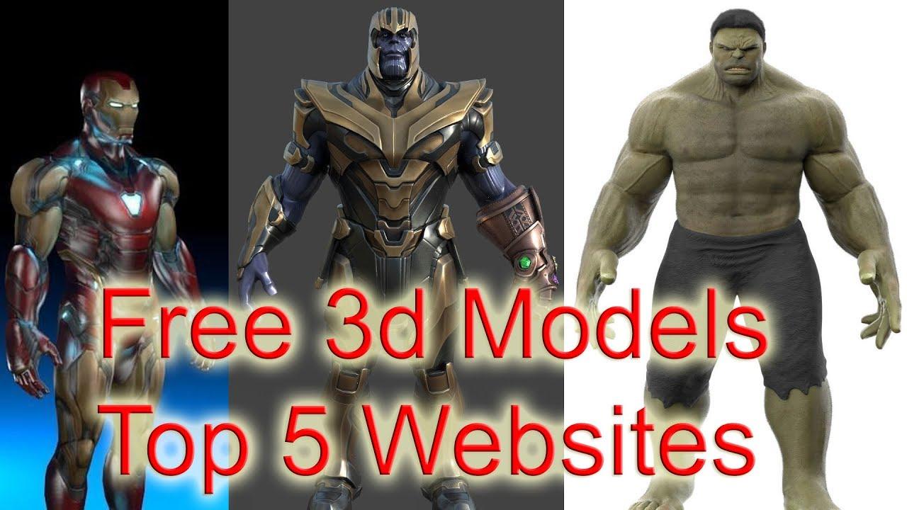Top 5 websites to download Free 3D Models (HINDI)