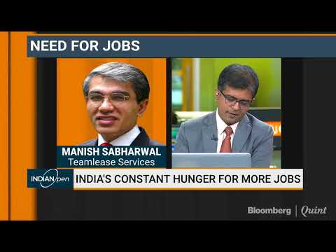 Indian Hiring Industry Set For Big Leap | Manish Sabharwal on Bloomberg Quint 11.04.2018