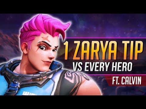 1 ZARYA TIP for EVERY HERO ft. TSM aimbotcalvin
