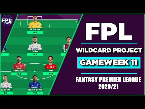 FPL WILDCARD PROJECT GAMEWEEK 11 | GW11 TEAM SELECTION REVEAL! | Fantasy Premier League 2020/21
