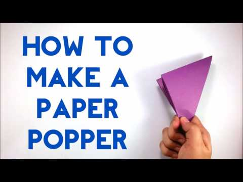 How To Make A Paper Popper / Banger / Flapper - Easy Paper Banger Tutorial for Beginners - DIY