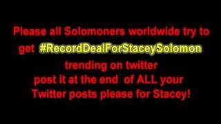 Help Stacey Solomon get a record deal twitter #RecordDealForStaceySolomon Thumbnail