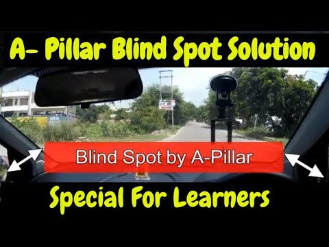 how to avoid blind spots by A-Pillar while driving || DESI DRIVING SCHOOL