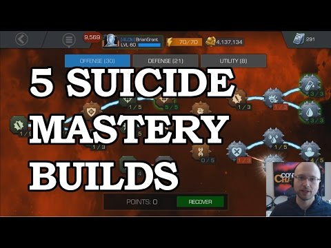 5 Powerful Suicide Mastery Builds | Marvel Contest of Champions