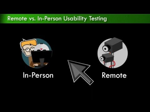 User Experience Design:  Remote vs. In-Person Usability Testing