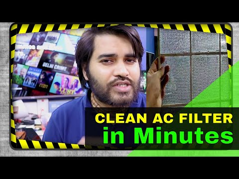 How to clean Window AC Filter at home | Fully Clean Air Conditioner Filter without Technician
