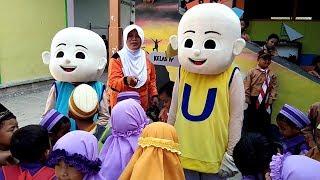 Upin & Ipin ikut Memeriahkan Hari Pramuka, Asik & Seru Sekali Foto Bersama Badut UpinIpin