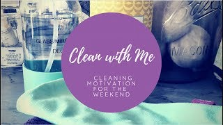 Clean With Me | WEEKEND PREP | Power HALF HOUR | Kitchen and Living Room