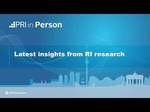 PRI in Person 2017 - Latest insights from RI research
