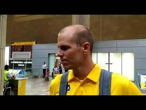Michael Roll landing back in Israel