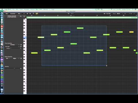 Logic Pro X - Video Tutorial 27 - MIDI Piano Roll Editor, part 1