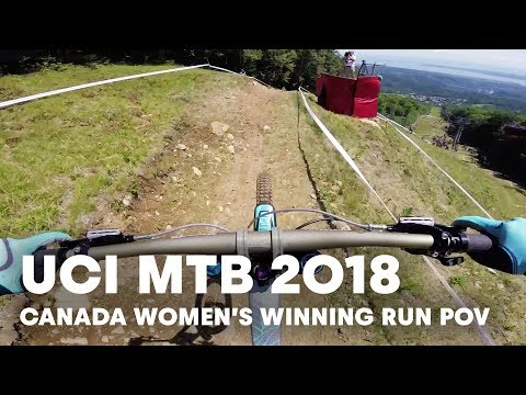 Rachel Atherton's Winning Run POV at Mont-Sainte-Anne, Canada. | UCI MTB 2018