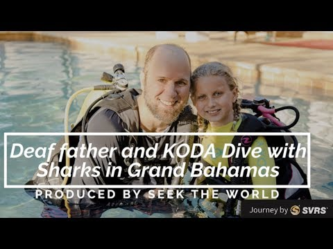 Deaf father and KODA Dive with Sharks in Grand Bahamas