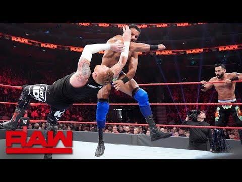 Heath Slater & Rhyno vs. Jinder Mahal & The Singh Brothers - 2-on-3 Handicap Match: Raw, Dec. 31,..