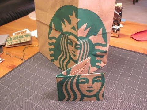 Origami Starbucks Paper Bag Wallet thumbnail