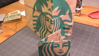 スターバックスの紙袋を「折り紙」してお財布を作り出す方法