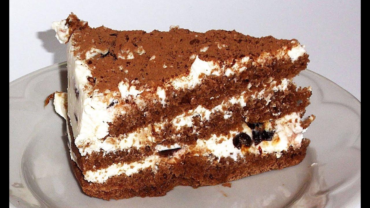 рецепты тортов бисквит видео