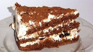 Торт Шоколадный с Творожным Кремом кулинарный видео рецепт