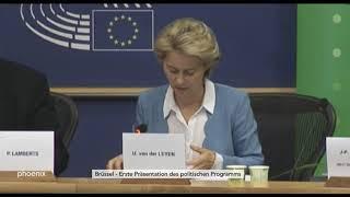 Statement von Ursula von der Leyen vor der grünen Fraktion im EU-Parlament am 10.07.19