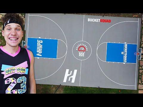 I BUILT A Full Basketball COURT In My Backyard!