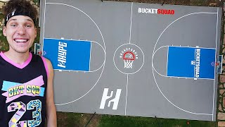 I BUILT A Full Basketball COURT In My Backyard!