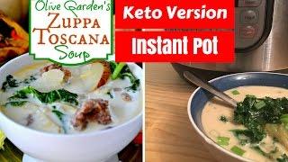 Zuppa Toscana (Sausage Kale Soup)  Keto  Instant Pot