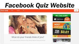 How to make facebook quiz website { Hindi | Urdu }