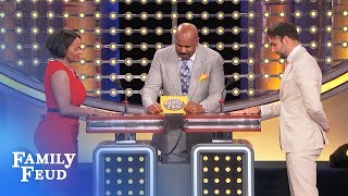 This part of my wife looks better... FULLY CLOTHED!   Family Feud