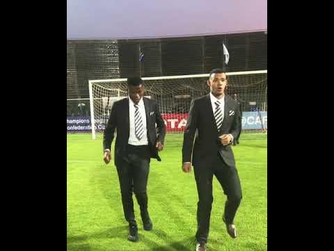 Ronwen Williams and Mondli Mpoto Dancing