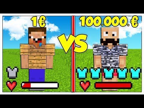 ARMATURA DA 1 EURO CONTRO ARMATURA DA 1 MILIONE! - Minecraft ITA thumbnail