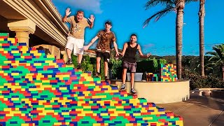 I Built a STAIRCASE Out of 10,000 GIANT LEGOS!!