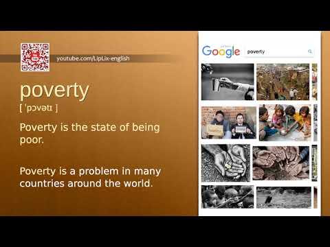 Poverty : B2 level english vocabulary lesson, www.LipLix.com