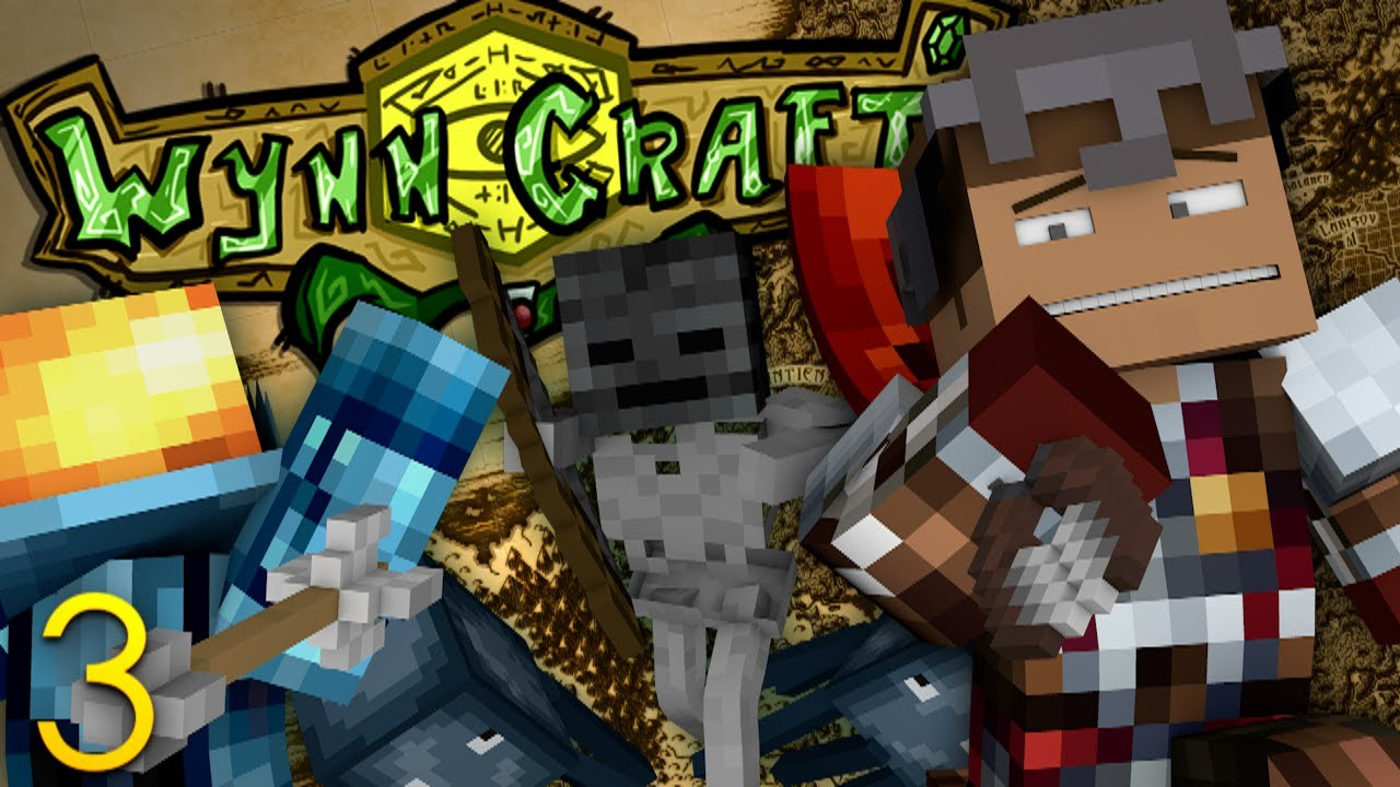 Minecraft RPG: WynnCraft! WITHERHEAD BOSS! SKELETON DUNGEON! (3) (Minecraft  MMO RPG Server)