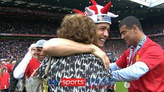 Cristiano Ronaldo celebrates Premier League title with his mum